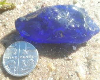 RESERVED FOR SHIRLEY Cobalt blue bonfire sea glass beach find genuine sea glass surf tumbled sea glass