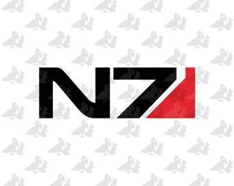 Mass Effect N7 2 Color Logo Decal Sticker
