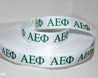 "Alpha Epsilon Phi 7/8"" Grosgrain Ribbon C1"