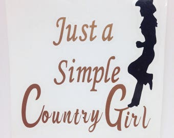 Country Girl Decal Etsy - Custom car decals houston   how to personalize