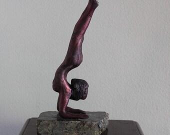 Pincha Mayurasana Yoga Sculpture