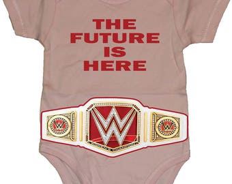 "The Future Is Here"" With Women's Championship Belt Baby Creeper/Bodysuits"