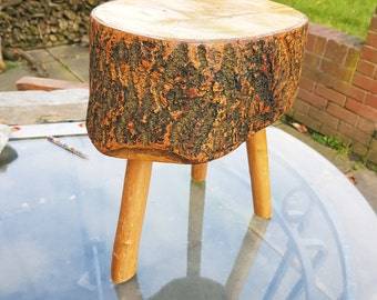 Small Stool made from Welsh Ash