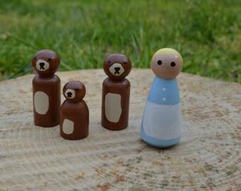 Goldilocks and The Three Bears Playset
