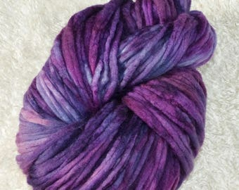 130 g Merino silk combed tops hand dyed (roving pencil)