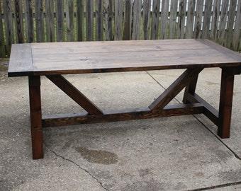 Farmhouse Truss Table