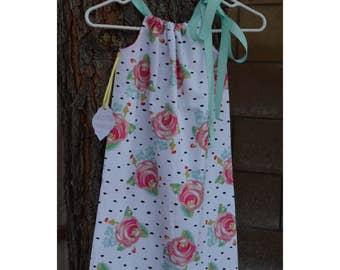 Polka Dot Rose Pillow case dress