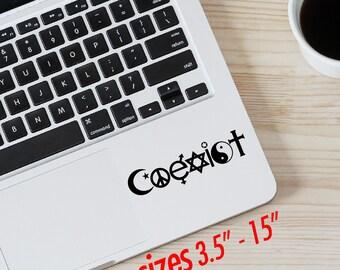 COEXIST logo Vinyl Decal