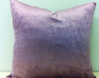 Luxury Lilac Velvet Pillow Cover, Lilac Pillow, Velvet Pillow, Throw Velvet Cushion, Decorative Pillows, Lilac Velvet Designer Pillow Covers