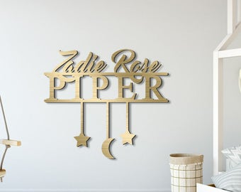 Super cute personalized sign for baby nursery & toddler room walls!