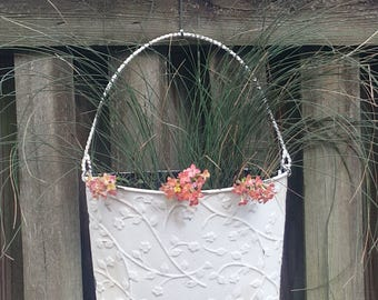 Grass and Kalencho hanging planter