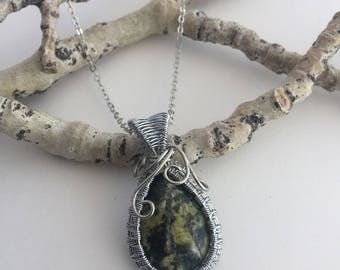 Jasper Wire Wrapped Pendant