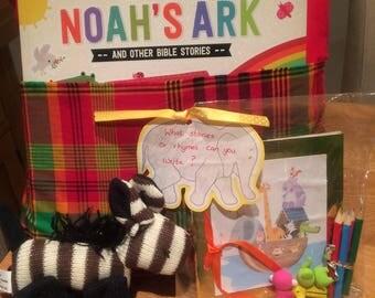 Children's Noah's ark story cushion