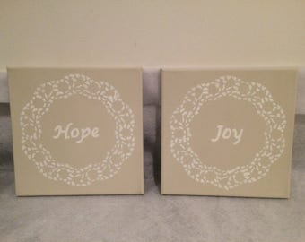 Hope and joy canvas'