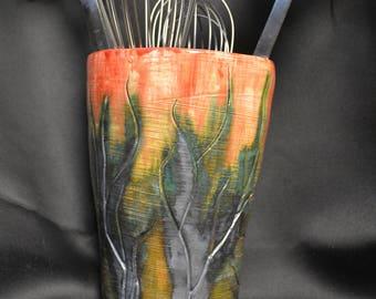 Tree inspired utensil holder