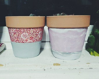 Small Clay Designer Pots - designed with Fimo