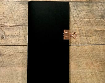 Black TN Insert - Traveler's Notebook Insert - Midori Insert - Fauxdori - Mixed Media - Scrapbooking - Art Journaling - Various Sizes