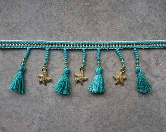 Summer Tassels and Stars Choker Necklace  Free Shipping