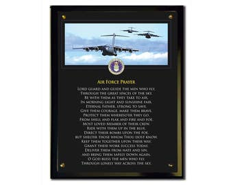 Air Force Prayer Plaque
