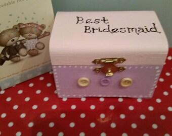 """Shabby Chic """"Best Bridesmaid"""" Gift Box"""