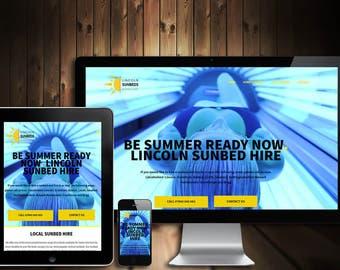 Custom Website Design with Responsive Layout