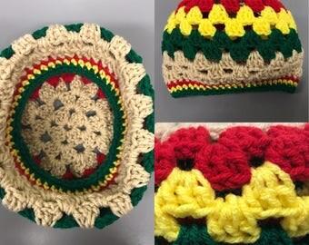 Crochet Granny Stitch Beanie