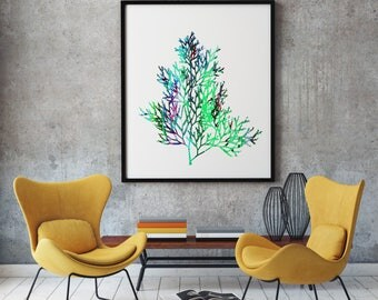 Tree Branch Print Art Poster Nature Illustration Home Decor