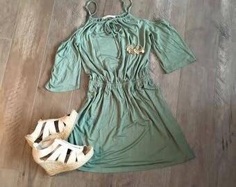 Sage Boho Dress