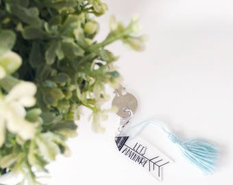 Lets adventure keychain with tassel