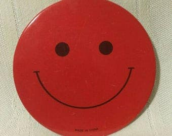 Original Vintage Red Smily Face Button/Pinback
