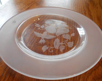 24% full leaded  crystal luncheon plate