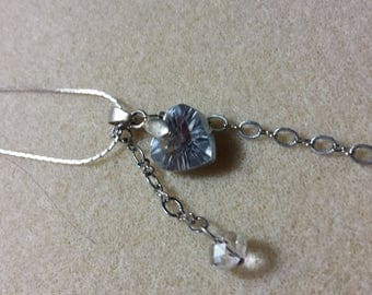Sterling silver chain with heart in swarovski.