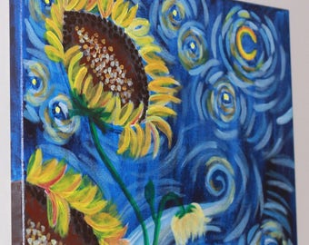 Van Gogh-inspired Sunflowers & Starry Night