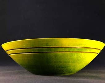 Coloured sycamore bowl with scorch detail