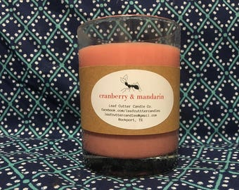 13 oz. Soy Candle in Cranberry & Mandarin