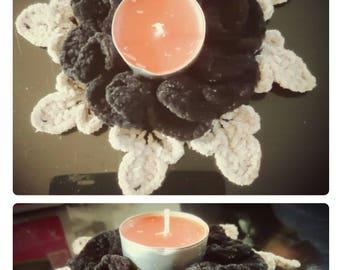 Candle holder handmade crochet