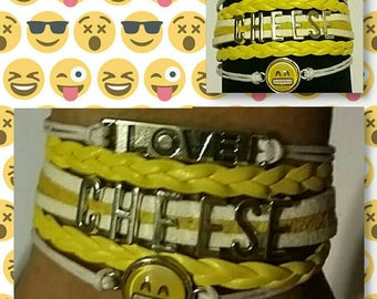 Love Cheese Emoji Bracelet