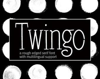 Handlettered Font Handwriting font Twingo font Wedding font Can be used for a logo design and Monogram design lettering and blog header