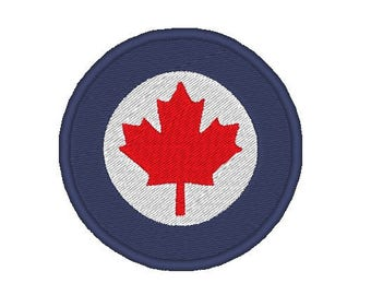 Canadian airforce mod Embroidery file Digital embroidery files Machine embroidery