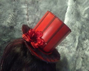 Leather Mini Top Hat Little Red