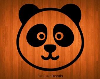 PANDA FACE DECAL, laptop decal panda, macbook decal panda, panda decor, panda stickers, panda bear, yeti decal panda, computer decal, vinyl