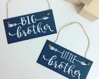 Big Brother and Little Brother Wooden Plaques (1 per order)