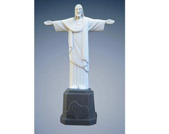 Christ the Redeemer Statue Miniature Resin Rio de Janeiro Brazil Jesus