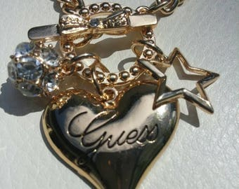SALE Gold Guess Charm Bracelet, Free Shipping.