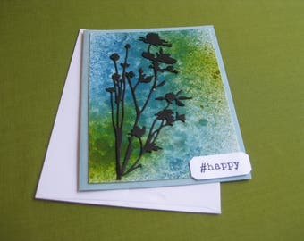 Handmade  Card Wildflowers - #happy