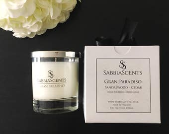 Sandalwood - Cedar SabbiaScents Luxury Candle - Highly scented candles - Home decor - Soy candle - Handmade