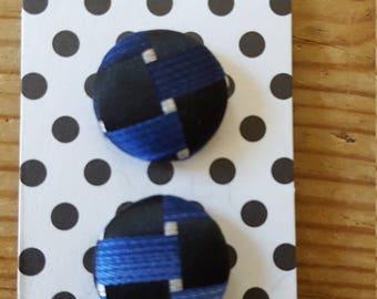 Blue silk buttons