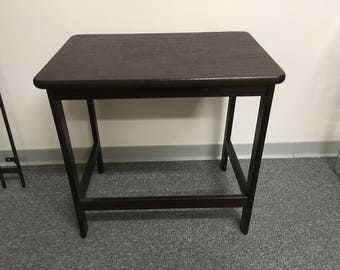 Vintage side table flower stool table small table wood table nightstand
