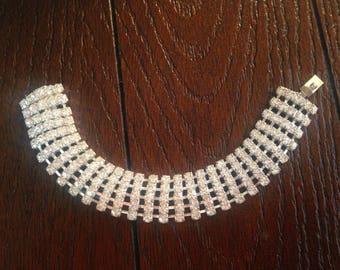 1920s style Rhinestone Bracelet Costume Jewelry