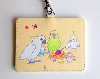 Heartwarming birds pass holder/baked sweet potato